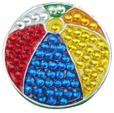 Beach Ball Crystals Ball Marker main pic