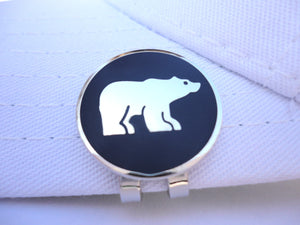 Polar Bear w/ Blue Background Ball Marker