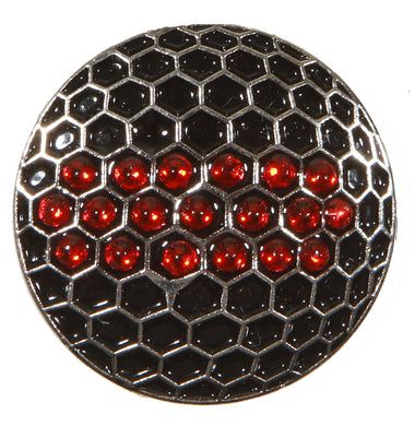 Black Ball w/ Red Crystals Ball Marker product pic