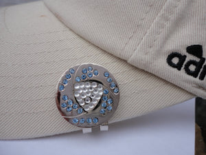 Crystal Clear and Blue Ball Marker hat brim pic