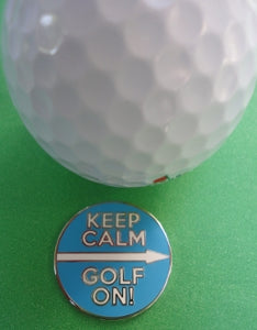Keep Calm Golf On Marker golf ball comparison pic 1