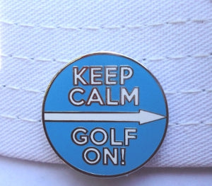 Keep Calm Golf On hat brim pic 1