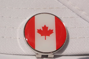 Canadian Flag Ball Marker hat brim