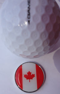 Canadian Flag Ball Marker golf ball pic