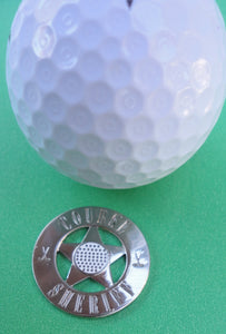 Course Sheriff Ball Marker golf ball pic