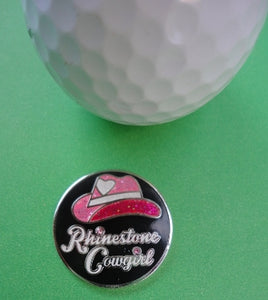 Rhinestone Cowgirl Marker golf ball comparison pic 1