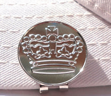 Crown Sterling Silver Plated Ball Marker hat brim pic