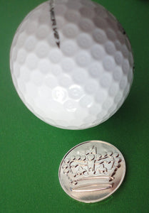 Crown Sterling Silver Plated Ball Marker golf ball pic 1