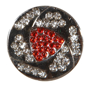 Crystal Red & White Ball Marker product pic 1
