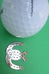 Double Horseshoe Ball Marker golf ball pic