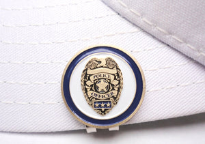 Fire & Police Department Double Sided Ball Marker hat brim pic