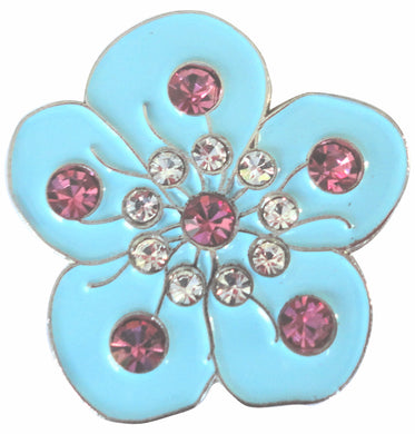 Flower Blue with Crystals Ball Marker main pic