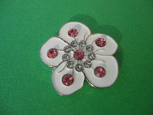 Flower White with Crystals Ball Marker product pic