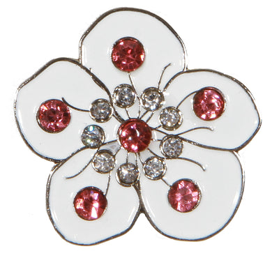 Flower White with Crystals Ball Marker product pic 1
