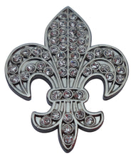 Fleur-de-lis with Clear Crystals Ball Marker