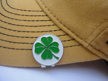 Four Leaf Clover Ball Marker hat brim pic