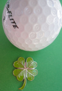 Shamrock Ball Marker golf ball pic 2