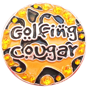 Golfing Cougar with Crystals Ball Marker product pic 2