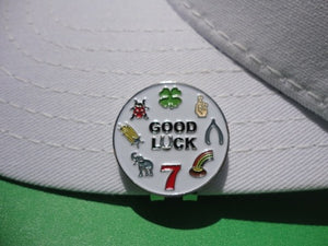 Good Luck Ball Marker hat brim pic 1