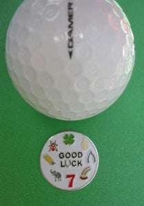 Good Luck Ball Marker golf ball pic 1