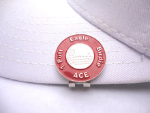 Great Expectations Red Ball Marker hat brim pic