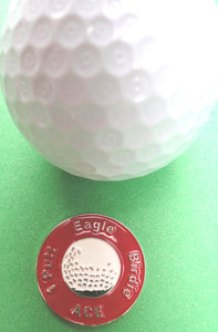 Great Expectations Red Ball Marker golf ball pic