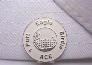 Great Expectations White Ball Marker hat brim pic 2