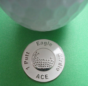 Great Expectations White Ball Marker golf ball pic