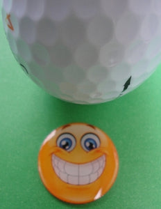 Big Grin Smiley Face Marker golf ball comparison pic 1
