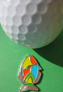 Tropical Fish Ball Marker golf ball pic