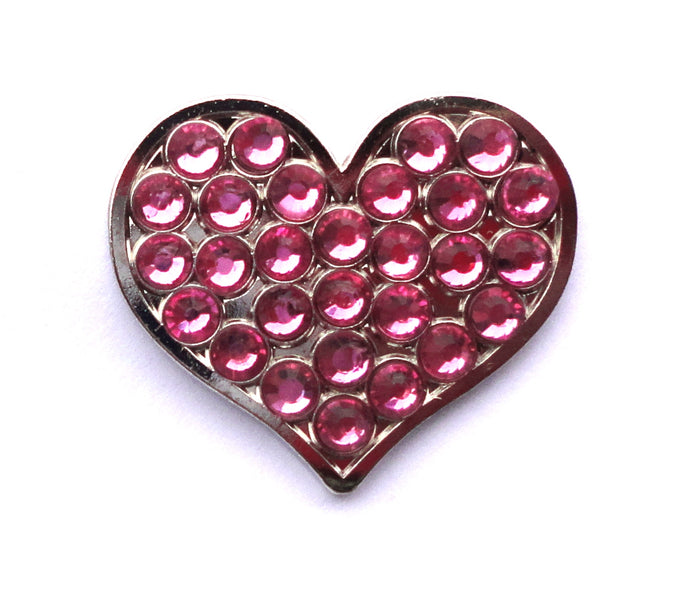 Heart with pink crystals
