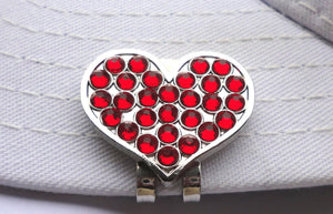 Heart with Red Crystals