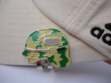 Military Helmet Ball Marker hat brim pic