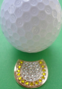 Horseshoe with Crystals Ball Marker golf ball pic 1