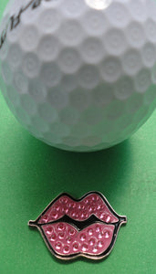 Hot Lips Pink Ball Marker golf ball pic