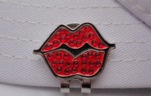 Hot Lips Red Ball Marker W/Crystals hat brim pic