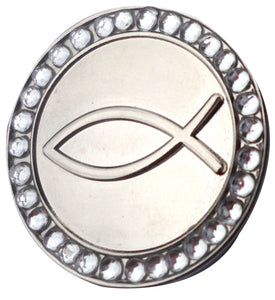 Infinity Fish with Crystals Ball Marker product pic