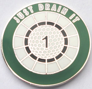 JUST DRAIN IT Ball Marker main pic