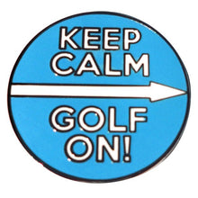 Keep Calm Golf On Ball Marker Main Pic