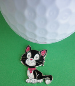 Kitty Cat Ball Marker golf ball pic