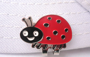 Lady Bug Ball Marker hat brim pic