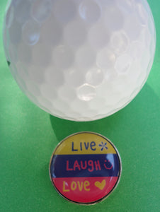 Live Laugh Love Ball Marker golf ball pic