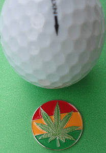 Mary Jane Rasta Ball Marker golf ball pic