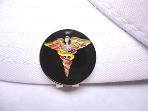 Medical Symbol Ball Marker hat brim pic