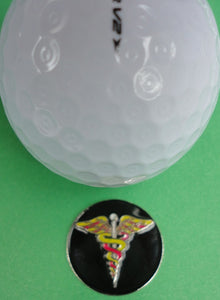 Medical Symbol Ball Marker golf ball pic