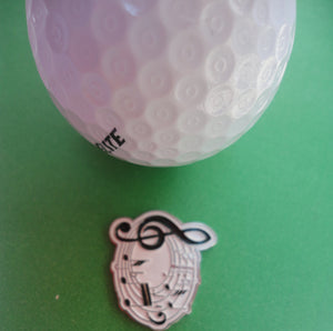 Music Notes Ball Marker golf ball pic