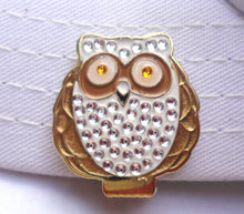 Owl w/ Crystals Ball Marker hat brim pic 2
