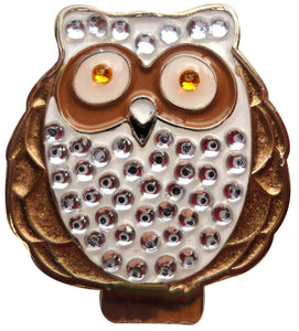 Owl w/ Crystals Ball Marker main pic