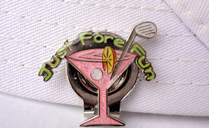 Pink Martini Glass Ball Marker hat brim pic 2