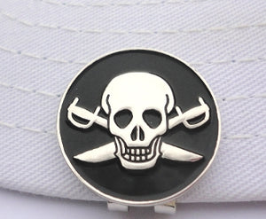 Pirate Ball Marker hat brim pic